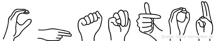 Chantou im Fingeralphabet der Deutschen Gebärdensprache