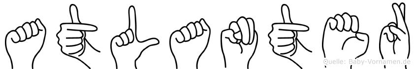 Atlanter im Fingeralphabet der Deutschen Gebärdensprache