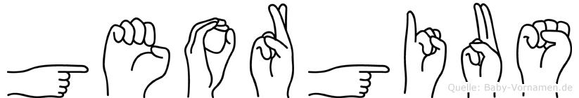 Georgius in Fingersprache für Gehörlose