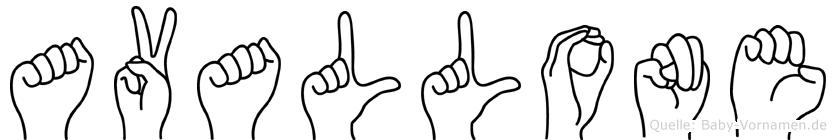 Avallone in Fingersprache für Gehörlose