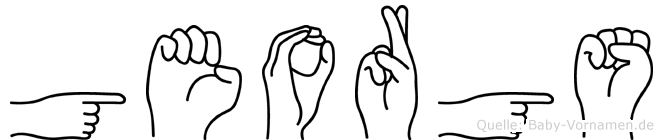 Georgs im Fingeralphabet der Deutschen Gebärdensprache