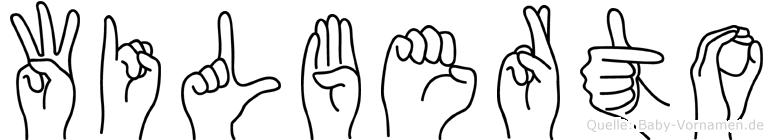 Wilberto im Fingeralphabet der Deutschen Gebärdensprache