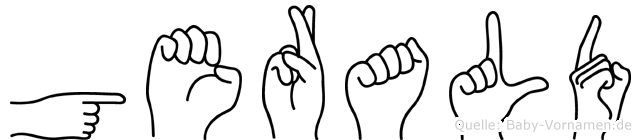 Gerald im Fingeralphabet der Deutschen Gebärdensprache