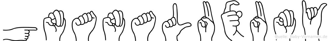 Gnanaluxumy in Fingersprache für Gehörlose