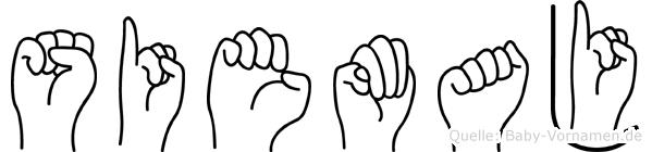 Siemaj im Fingeralphabet der Deutschen Gebärdensprache