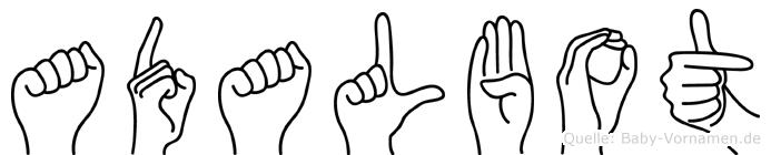 Adalbot in Fingersprache für Gehörlose