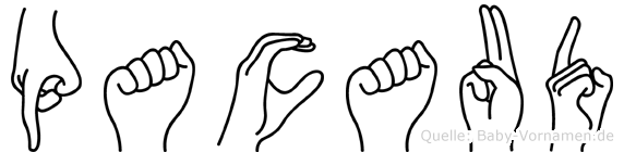 Pacaud in Fingersprache für Gehörlose