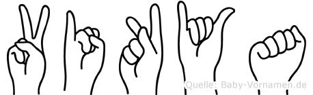 Vikya in Fingersprache für Gehörlose