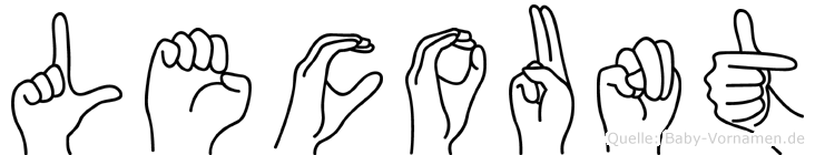 Lecount im Fingeralphabet der Deutschen Gebärdensprache