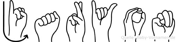 Jaryon im Fingeralphabet der Deutschen Gebärdensprache