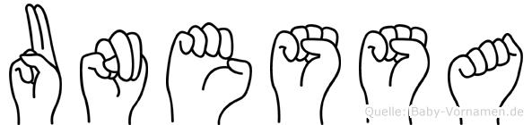 Unessa in Fingersprache für Gehörlose