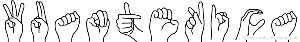 Wuantekica im Fingeralphabet der Deutschen Gebärdensprache