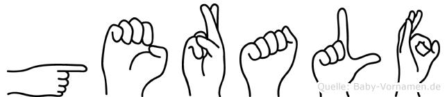Geralf im Fingeralphabet der Deutschen Gebärdensprache