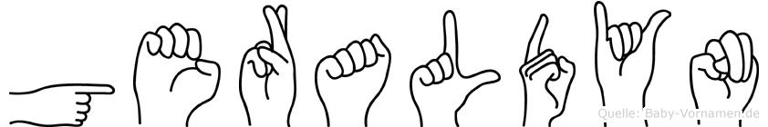 Geraldyn im Fingeralphabet der Deutschen Gebärdensprache