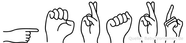 Gerard in Fingersprache für Gehörlose