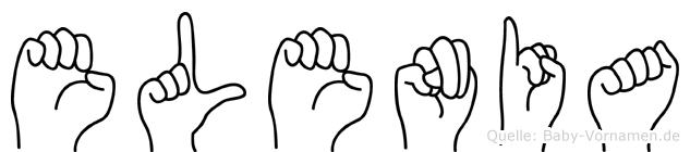 Elenia in Fingersprache für Gehörlose
