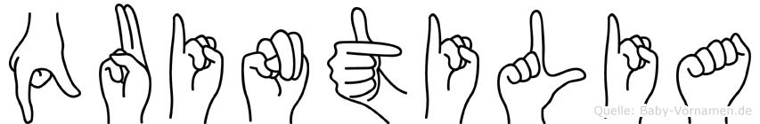 Quintilia in Fingersprache für Gehörlose