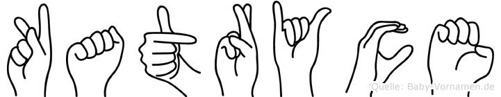 Katryce im Fingeralphabet der Deutschen Gebärdensprache