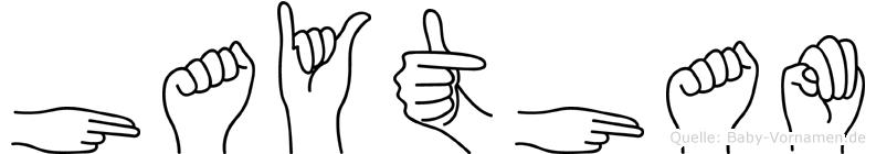Haytham in Fingersprache für Gehörlose