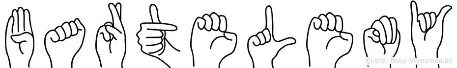 Bartelemy im Fingeralphabet der Deutschen Gebärdensprache