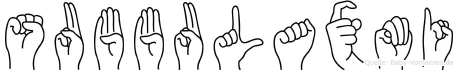 Subbulaxmi in Fingersprache für Gehörlose