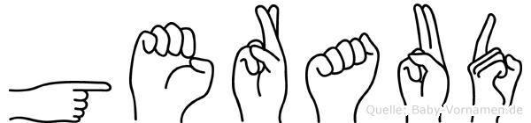 Geraud im Fingeralphabet der Deutschen Gebärdensprache