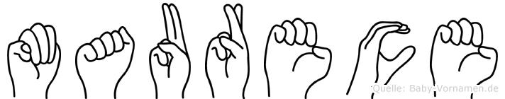 Maurece in Fingersprache für Gehörlose
