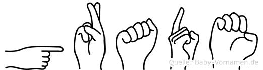Grade in Fingersprache für Gehörlose