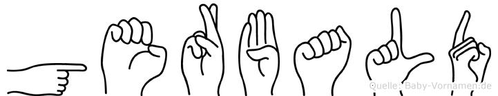 Gerbald im Fingeralphabet der Deutschen Gebärdensprache