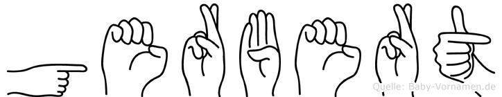 Gerbert im Fingeralphabet der Deutschen Gebärdensprache