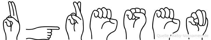 Ugresen in Fingersprache für Gehörlose
