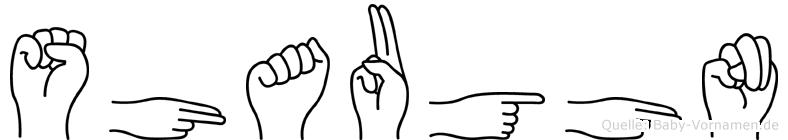 Shaughn im Fingeralphabet der Deutschen Gebärdensprache