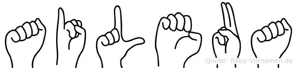 Aileua in Fingersprache für Gehörlose