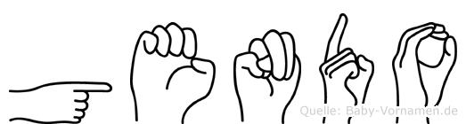 Gendo im Fingeralphabet der Deutschen Gebärdensprache