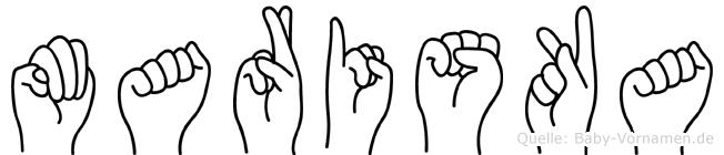 Mariska in Fingersprache für Gehörlose