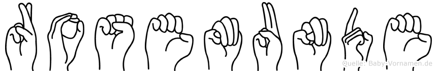 Rosemunde in Fingersprache für Gehörlose