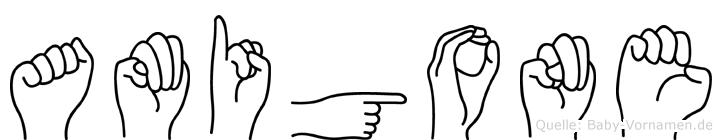 Amigone in Fingersprache für Gehörlose
