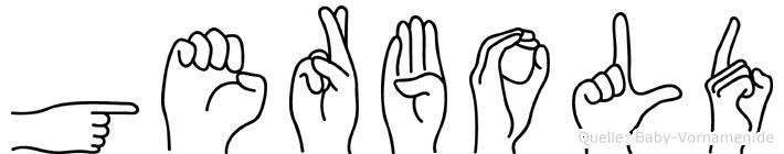 Gerbold in Fingersprache für Gehörlose