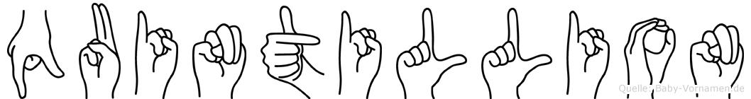 Quintillion in Fingersprache für Gehörlose