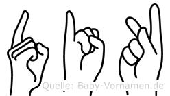 Dik in Fingersprache für Gehörlose