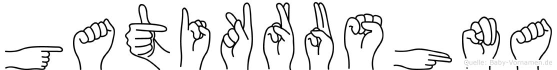 Gatikrushna in Fingersprache für Gehörlose