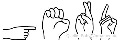 Gerd in Fingersprache für Gehörlose
