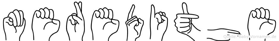 Meredithe im Fingeralphabet der Deutschen Gebärdensprache