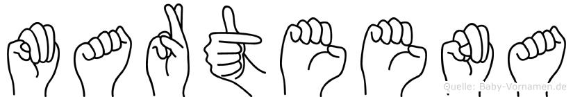 Marteena in Fingersprache für Gehörlose