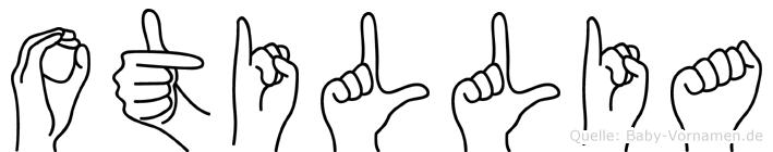 Otillia im Fingeralphabet der Deutschen Gebärdensprache