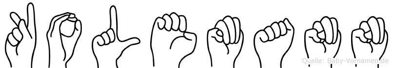 Kolemann in Fingersprache für Gehörlose