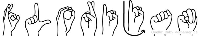 Florijan im Fingeralphabet der Deutschen Gebärdensprache
