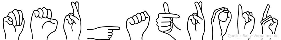 Mergatroid in Fingersprache für Gehörlose