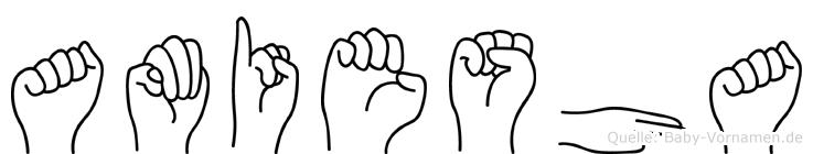 Amiesha in Fingersprache für Gehörlose