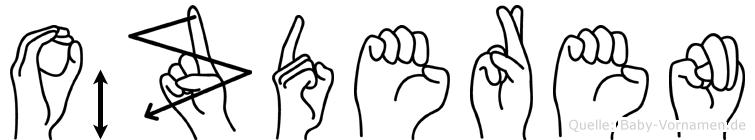 Özderen im Fingeralphabet der Deutschen Gebärdensprache